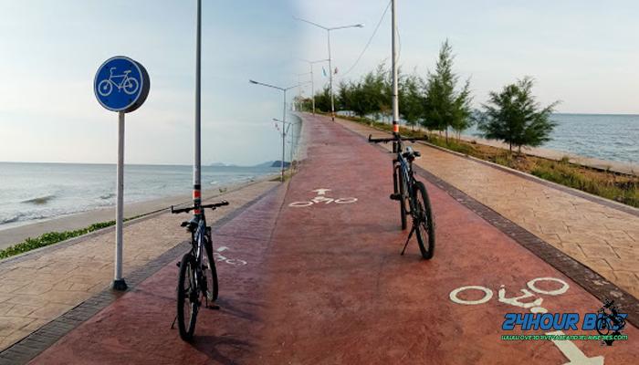 ปั่นจักรยาน ปากน้ำปราณ เขากะโหลก อุทยานแห่งชาติเขาสามร้อยยอด บึงบัว