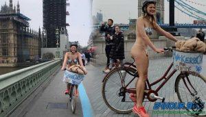 สวยเปลือยกายแก้ผ้าปั่นจักรยานไปรอบเมือง เพื่อระดมทุนให้กองทุนสุขภาพจิต