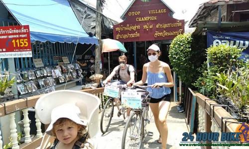 เส้นทางการปั่นจักรยาน ที่เกาะเกร็ด นนทบุรี