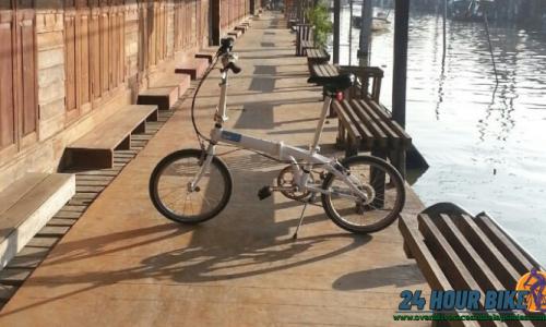 เส้นทางปั่นจักรยาน ที่ตลาดน้ำอัมพวาจังหวัดสมุทรสงคราม